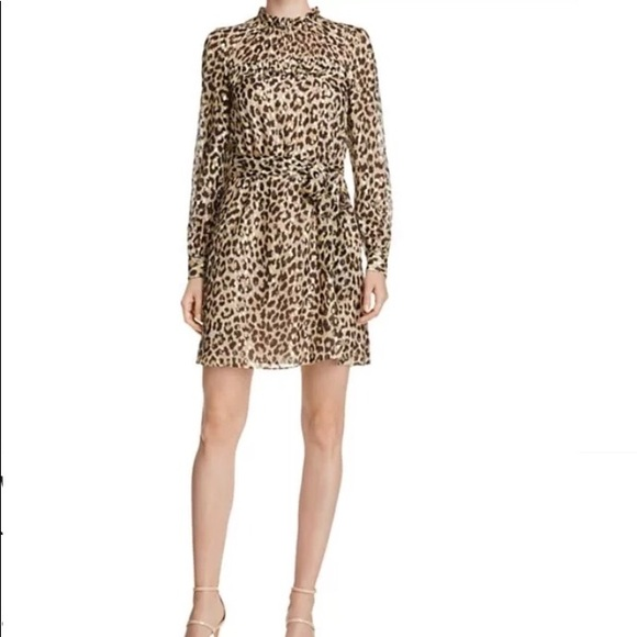 4f7bbbc082 kate spade Dresses   Skirts - Kate Spade Leopard Print Clipped Dot Ruffle  Dress